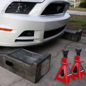 ramps-vs-jack-stands-oil-change