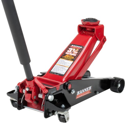 While Larger And Heavier Than Some Of Its Compeors This Model S Sleek Black Red Colored Floor Jack Boasts An Impressive 3 5 Ton Capacity